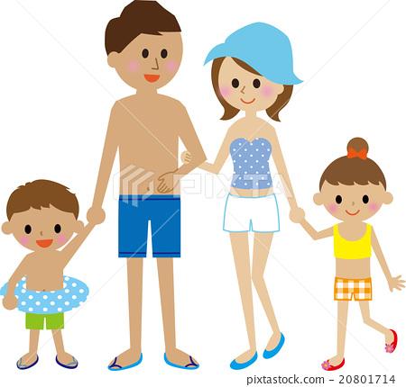 family, closeness, bathing costume 20801714