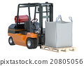 Forklift truck with bulk bag 20805056