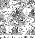Anchor and coral reef pattern 20805161