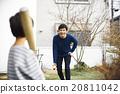 父亲和孩子一起玩 20811042