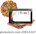 Pizza Menu in the Tablet Computer 20814347