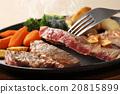 牛排 鐵板燒(在熱板上烤菜) 葷菜 20815899