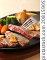 牛排 鐵板燒(在熱板上烤菜) 葷菜 20815905