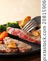 牛排 鐵板燒(在熱板上烤菜) 葷菜 20815906