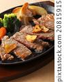 牛排 鐵板燒(在熱板上烤菜) 葷菜 20815915