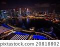 新加坡 小艇停靠灣 夜景 20818802