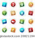 Basketball Icon set 20821194