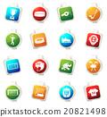 Hockey icons set 20821498