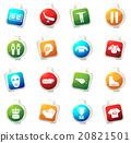 Hockey icons set 20821501