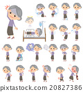 Purple clothes grandmother About the sickness 20827386