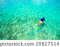 man, snorkeling, swimming 20827514
