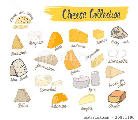 Vector illustration of cheese collection. 20831196