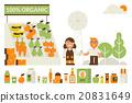 Organic market concept 20831649