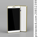 Smartphones with golden frame 20832399
