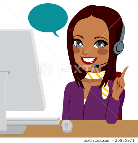 Call Center Indian Woman 20835871