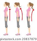 姿勢 態度 女性 20837879