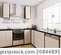 Modern kitchen interior 3d rendering 20844895