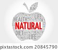 Natural apple word cloud 20845790