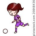 ผู้หญิงกำลังเล่นฟุตบอล 20848436