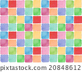 Spring background material pattern tile pattern cute red illustration square texture fabric pattern wallpaper 20848612