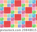 Colorful vivid spring background material background illustration pattern tile pattern design cute red watercolor painting 20848615