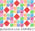 Colorful vivid spring background material background illustration pattern tile pattern design cute red watercolor painting 20848617