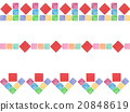 Line decorate ruled line border Colorful fun background material Ethnic spring color pattern tile pattern pattern 20848619