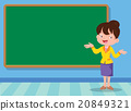teacher and backboard 20849321