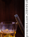 Whiskey and cigar 20849918