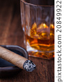Whiskey and cigar 20849922