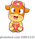 Korea Traditional Cow Mascot is a polite greeting. 20852235