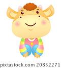 Korea Traditional Bull Mascot is a polite greeting 20852271
