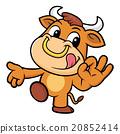 Bull Mascot the OK gesture. 20852414