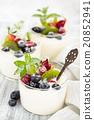 Yogurt with berries. 20852941