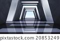 interior design of futuristic 3D Corridor front 20853249