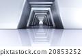 interior design of futuristic 3D Corridor wide 20853252