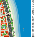 Top view urban road transport 20853556