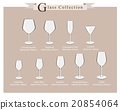 Cocktail and Wine Glasses Diagram 20854064