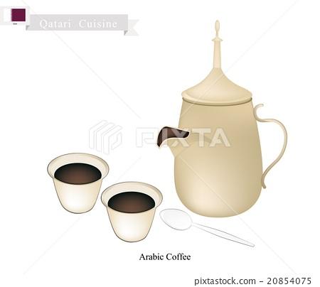Traditional Arabic Coffee, Popular Dink in Qatar 20854075