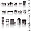 building, buildings, silhouette 20855893