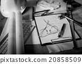Blueprints, Hardhat, Glasses, Construction  20858509