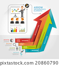 Abstract arrow infographics template.  20860790