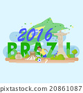 Brazil with 2016 text 20861087