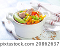 baked vegetables with meat 20862637