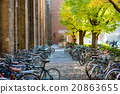Bicycles parking in tokyo university. 20863655