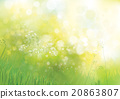 Vector green  nature background. 20863807