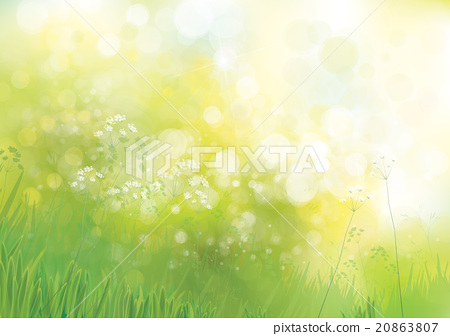 Vector green nature background  - Stock Illustration