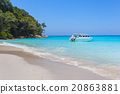 Beautiful sea landscape with tropical coast 20863881