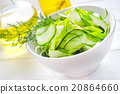 Fresh salad with cucumber and greens 20864660