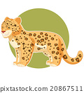 Cartoon smiling Jaguar 20867511